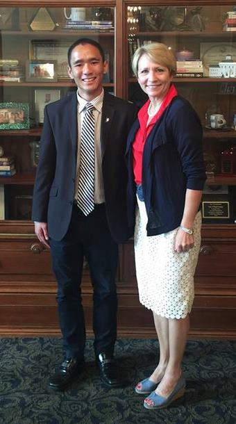 Steve Vong '16 and Lieutenant Governor Sue Ellspermann