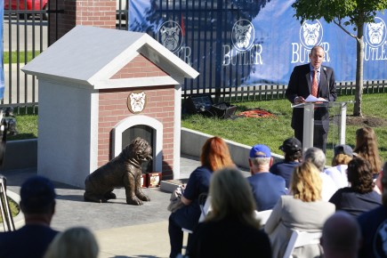 "Michael Kaltenmark said the bulldog memorial is ""a timeless relic."""