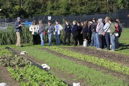 Butler University CUE farm hosts FFA convention attendees October 21, 2016.