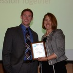 Daniel Peterson and Indiana Pharmacists Alliance Past President Amy Hyduk '04