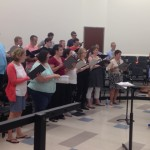 Former members of the Butler Chorale returned to Butler to sing with their former conductor, Michael Shasberger.