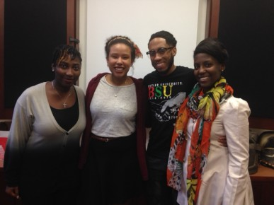 RaeNosa Hudnell, Murjuana Mutuwa, Jeremy Washington, and Elisha Wright will be singing with Stevie Wonder.