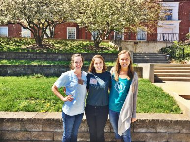 Lauren Wathen, Olivia Carroll, and Bailey Armstrong are working to reduce food waste on campus