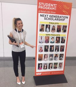 Savannah Kleiner won a Next Generation Scholarship from the National Retail Federation.