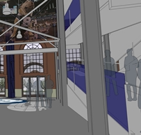 Rendering of Hinkle Fieldhouse ramp to be named in Plump's honor.