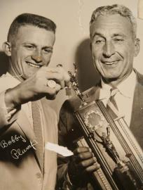 Bobby Plump, left, and Coach Tony Hinkle in 1958.