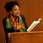 Tracy K Smith photo at speaker's podium