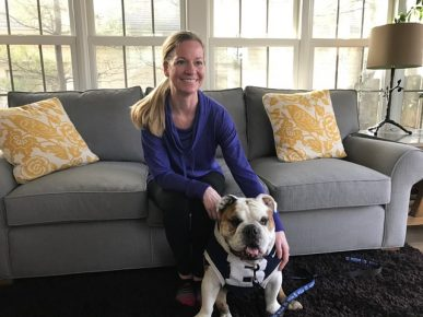 Kidney donor Tracy Pabst got a visit from Trip.
