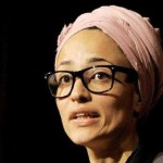 Zadie-Smith at microphone