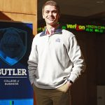 Butler University College of Business student Chad Pingel November 19, 2015.