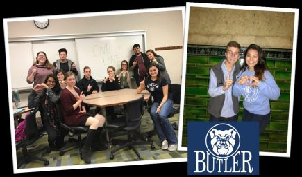 Butler students involved in the Escalation Workshops through the One Love Foundation.