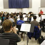 Robert Grechesky rehearses the symphonic band.