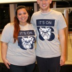 "Noelle Rich and Austin Del Priore emceed and helped organize the ""It's On Us"" Butler kickoff."