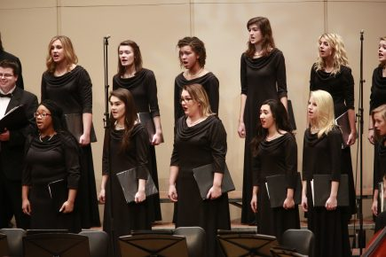 Butler University holiday concert in the Schrott Center December 13, 2015.