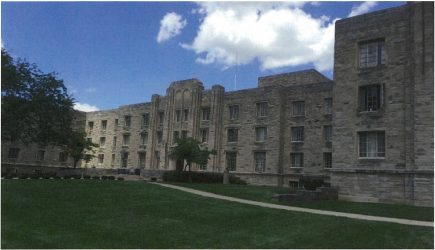 A Butler Collegian photo of Schwitzer Hall.