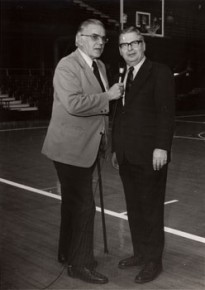 Herb with Tom Carnegie, for Channel 6, 1975