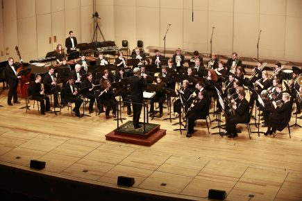 Butler University wind ensemble concert during Artsfest in the Scrhott Center April 9, 2015.
