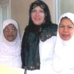 Ann O'Connor, center, with Abha Private Hospital staff